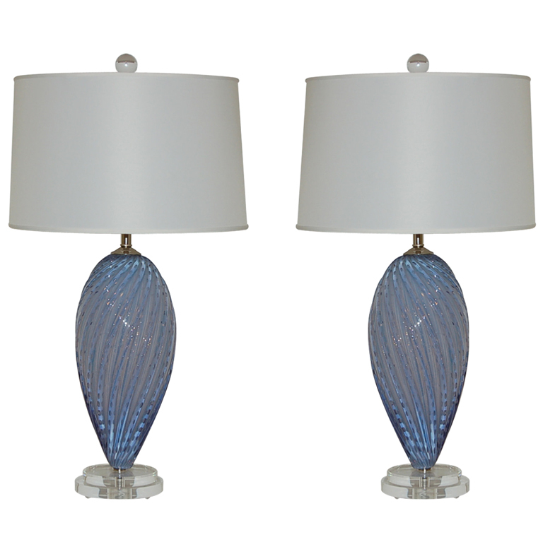 Pair of Vintage Murano Lamps by Alfredo Barbini