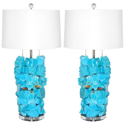 ROCK CANDY Lamps in MALIBU BLUE