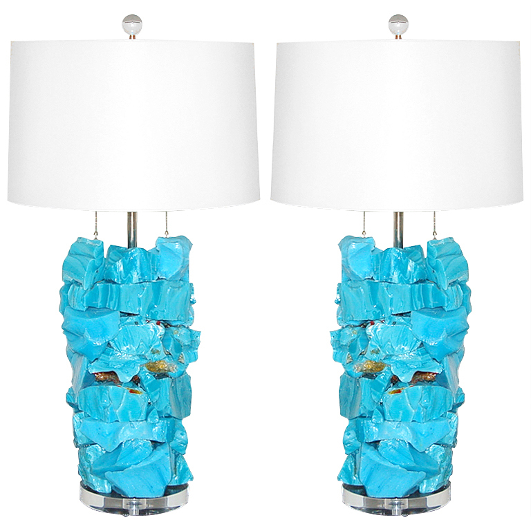 ROCK CANDY Lamps in MALIBU BLUE