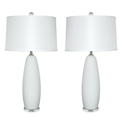 Satin Glass Vintage Murano Lamps
