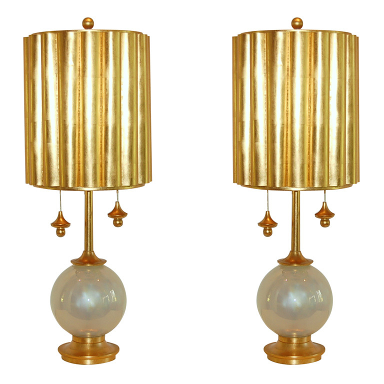 Marbro Lamp Company - Murano Lamps in Pearl Opaline