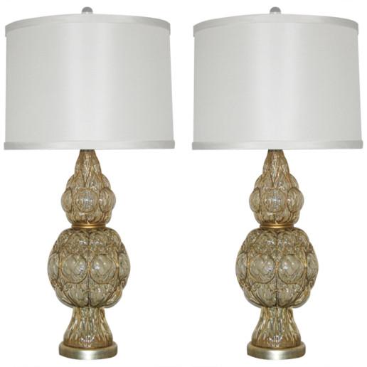 Marbro Lamp Company - Murano Lamps of Champagne