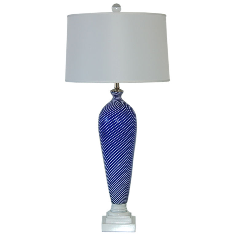 Dino Martens - Vintage Pin Striped Murano Lamp