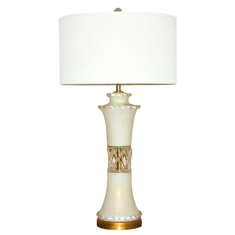 Rare Vintage Murano Wedding Cake Lamp