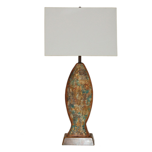 Sasha Brastoff - Vintage Mosaic Ceramic Lamp