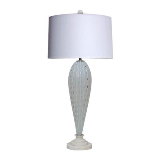 Alfredo Barbini - White Opaline Murano Teardrop Lamp