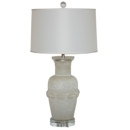 Cendese Vintage Murano Lamp with Scavo Finish