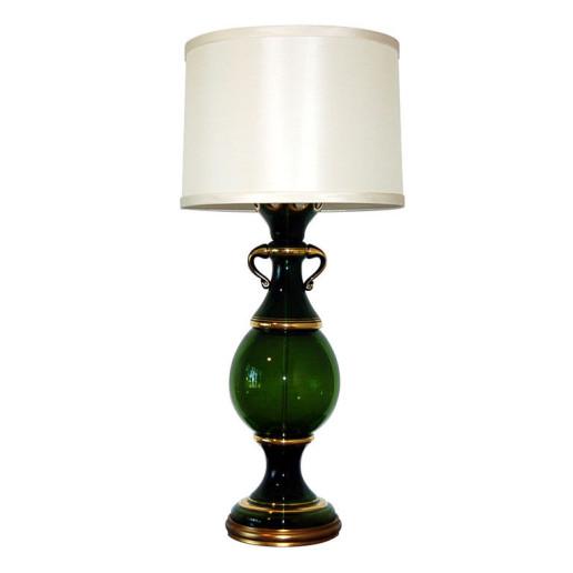 The Marbro Lamp Company - Deep Green Vintage Murano Lamp