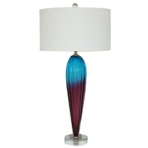 Archimedes Seguso - Two Tone Opaline Murano Teardrop Lamp