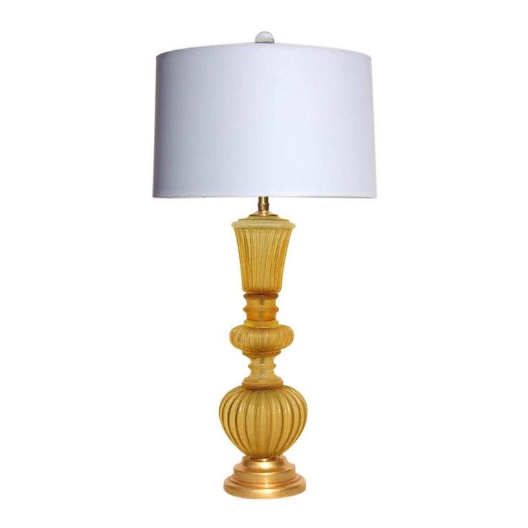 The Marbro Lamp Company - Murano Lamp in Honey Acidato