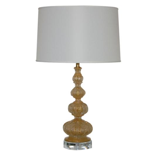 Brilliant Gold Vintage Murano Lamp