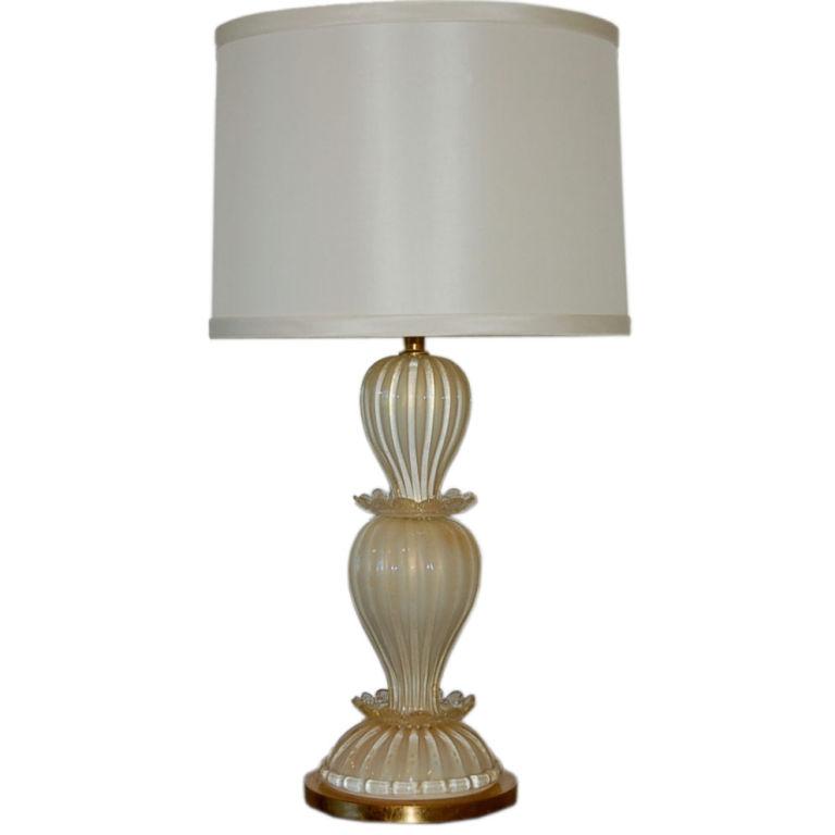 The Marbro Lamp Company - Barovier & Toso in Custard and Cream