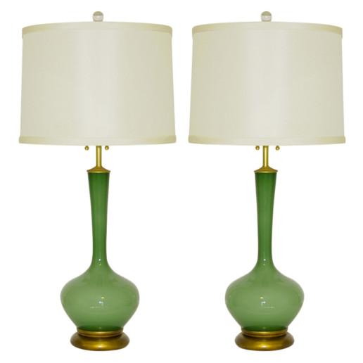 Marbro Lamp Company - Handblown Swedish Glass Lamps