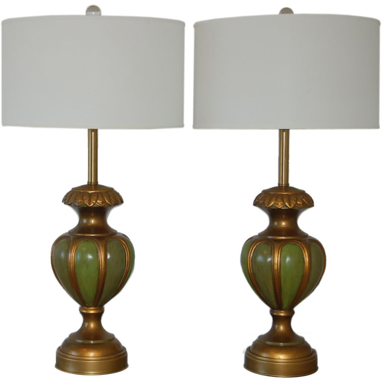 The Marbro Lamp Company - Carved Ceramic Lamps of Green