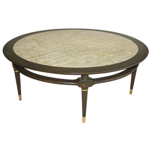 Capiz Shell Topped Coffee Table, 1964