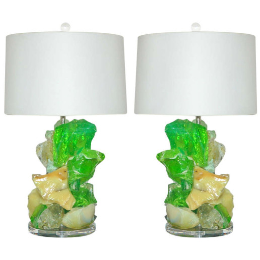 ROCK CANDY Lamps in LEMON LIME