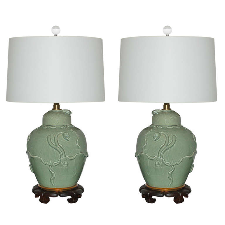 The Marbro Lamp Company - Vintage Celadon Lamps