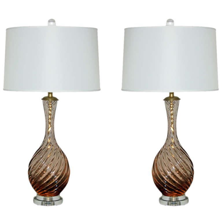 Marbro Lamp Company - Murano Lamps of Peach Frost