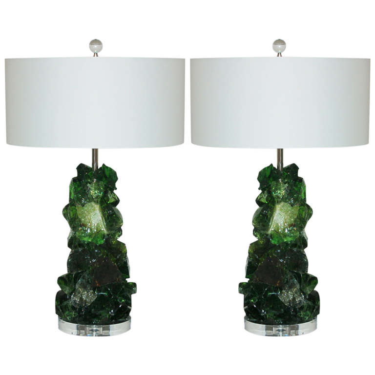 ROCK CANDY Lamps in EMERALD SAGE
