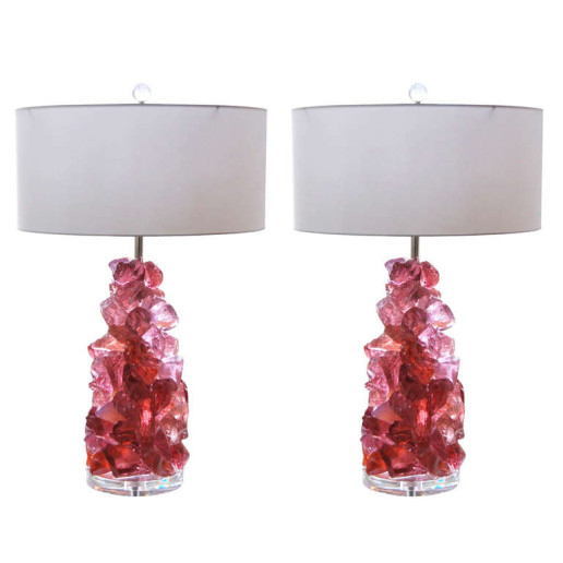 ROCK CANDY Lamps in ORCHID ROSE