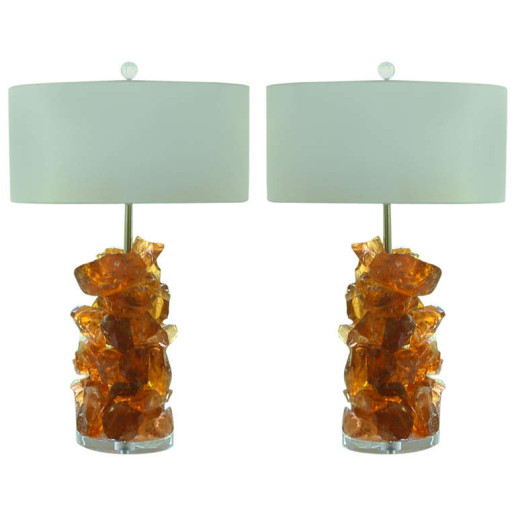 ROCK CANDY Lamps in PEACH CARAMEL