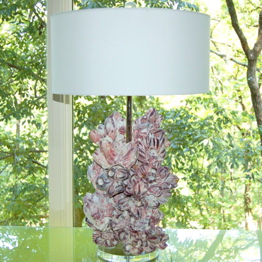 Pair of Monumental Barnacle Lamps by Swank Lighting