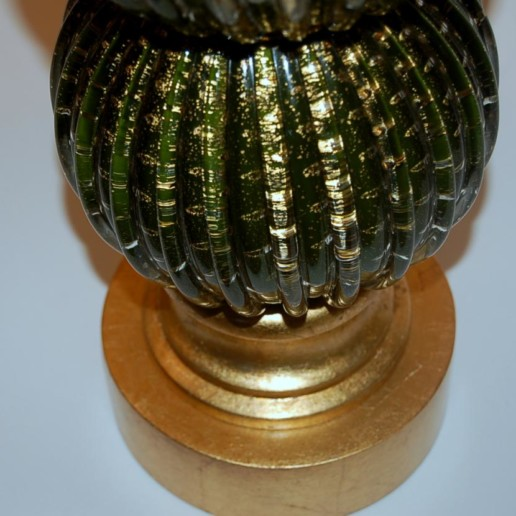 Stacked Ball Murano Lamps in Green and Gold