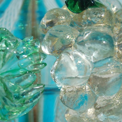 Dino Martens - Filigrana Murano Lamp with Applied Fruit
