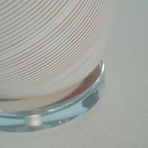 Dino Martens - Monumental Peppermint Stripe Vintage Murano Lamp