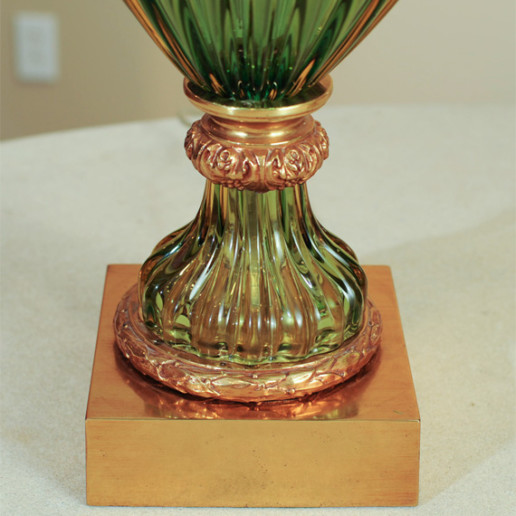 Marbro Lamp Company - Murano Lamps of Emerald Green