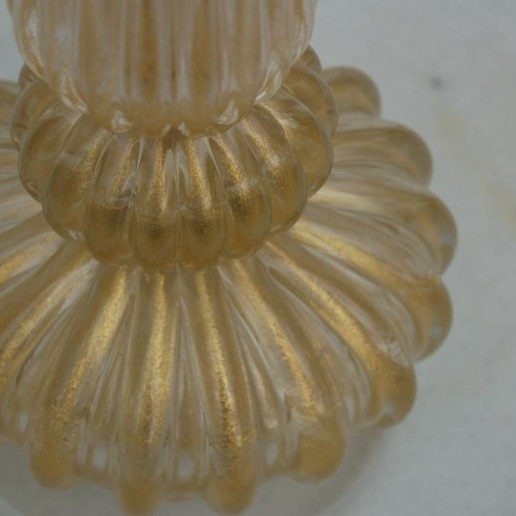 Gold and Clear Vintage Murano Lamp