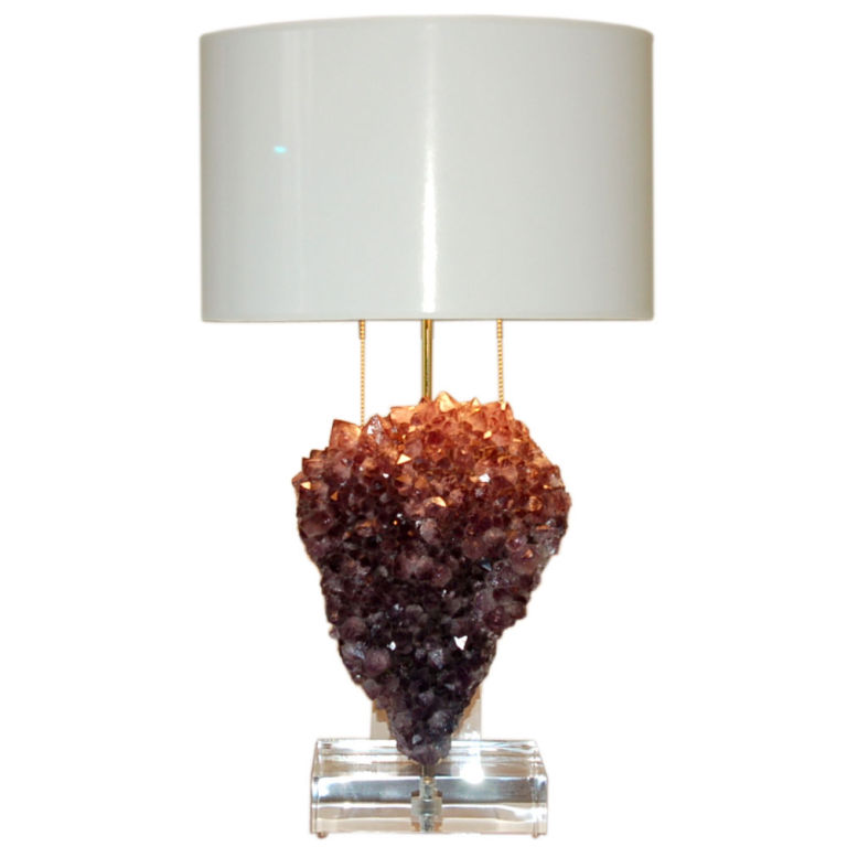 Heart Shaped Amethyst Accent Lamp