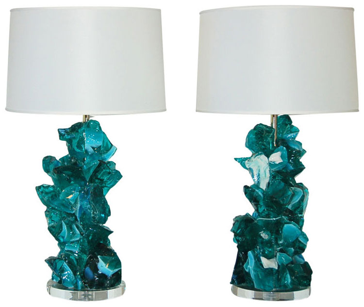 ROCK CANDY Lamps in ICED TEAL