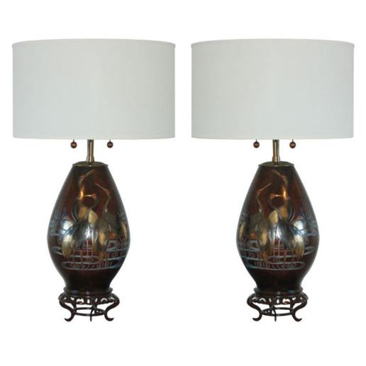 The Marbro Lamp Company - Japanese Mixed Metal Lamps