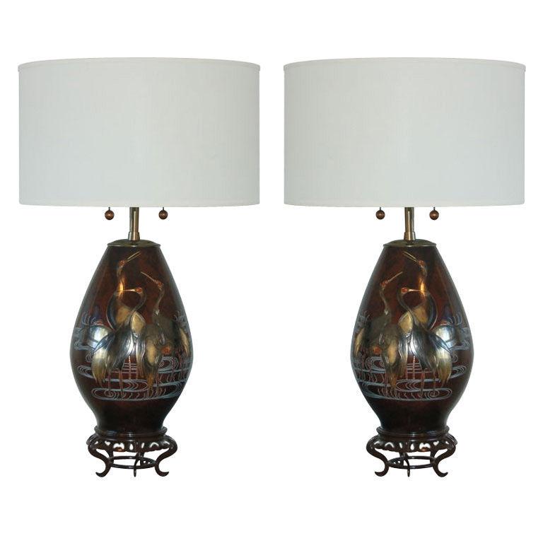 The Marbro Lamp Company – Japanese Mixed Metal Lamps