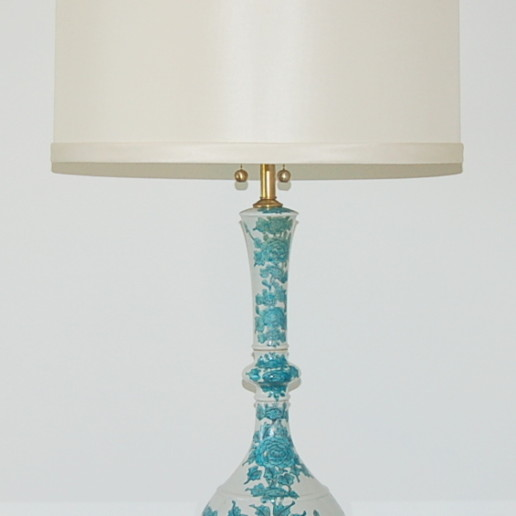 Beautiful Flowered Porcelain Lamps by The Marbro Lamp Company