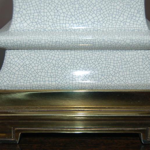 Pair of Vintage Stiffel Crackle Glazed Lamps